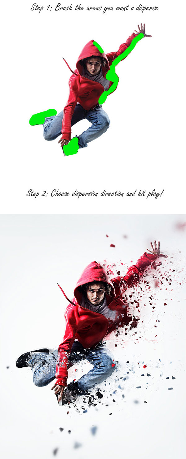 2.Dispersion Photoshop Action