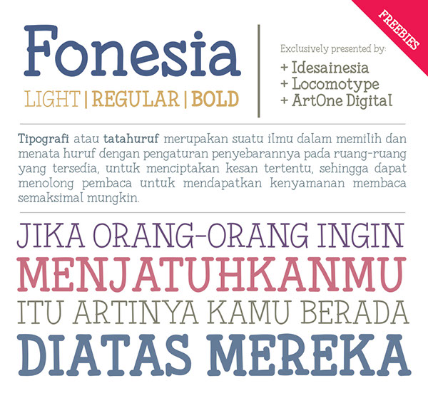 2.Free Font Of The Day  Fonesia