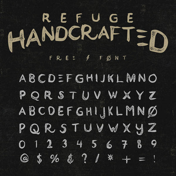 2.Free Font Of The Day  Refuge