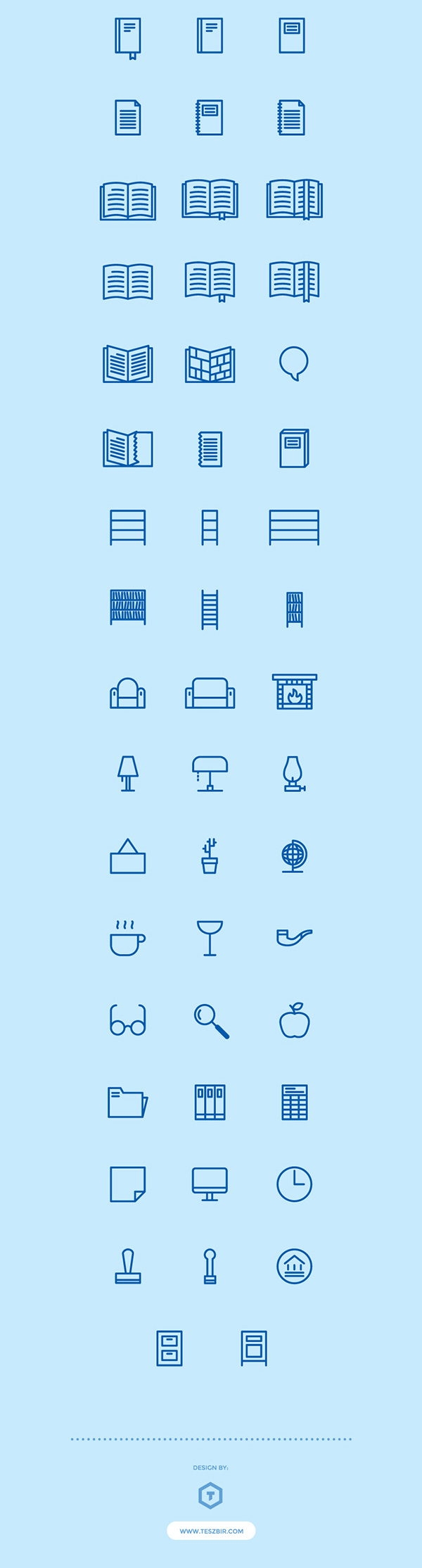 2.Free Home and Public Library Icons