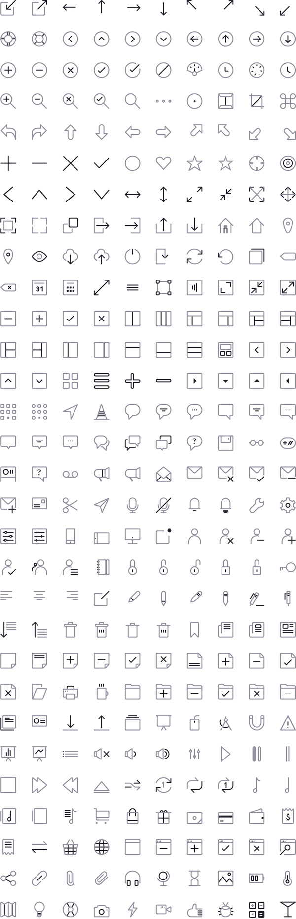 2.free sketch icons