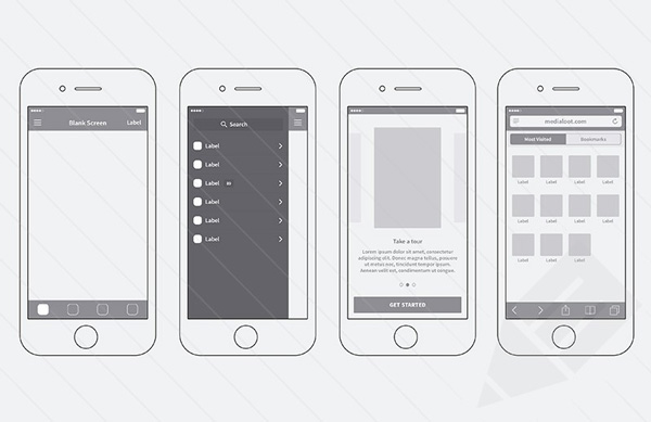 2.iPhone App Wireframing Kit