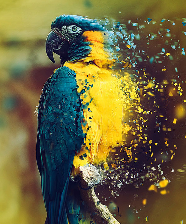 3.Dispersion Photoshop Action