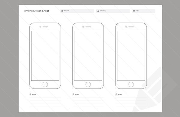 3.Wireframe Sketch Sheets