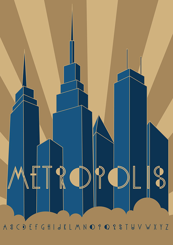 4.Free Font Of The Day  KH-Metropolis
