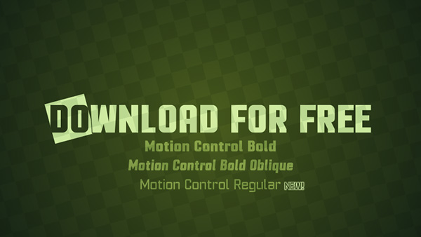 4.Free Font Of The Day  Motion Control