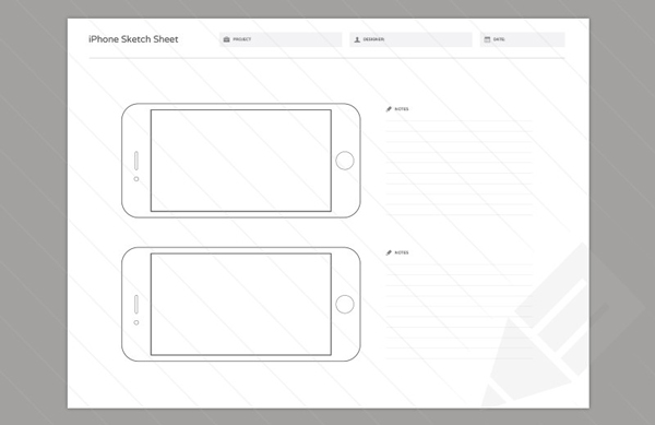 4.Wireframe Sketch Sheets
