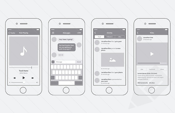 4.iPhone App Wireframing Kit