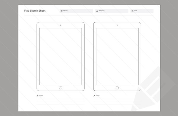5.Wireframe Sketch Sheets