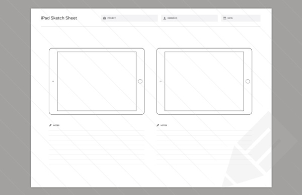 6.Wireframe Sketch Sheets
