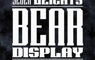 1.Free Font Of The Day  Bear Display