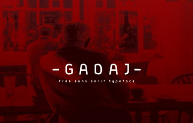 1.Free Font Of The Day  Gadaj
