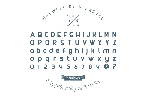 1.Free Font Of The Day  MAXWELL