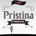 1.Free Font Of The Day  Pristina