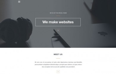 1.HTML PSD Landing Page