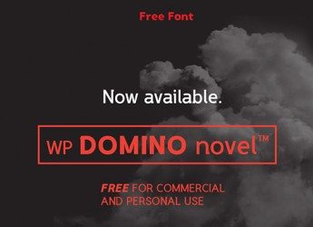 2.Free Font Of The Day  WP DOMINO Novel