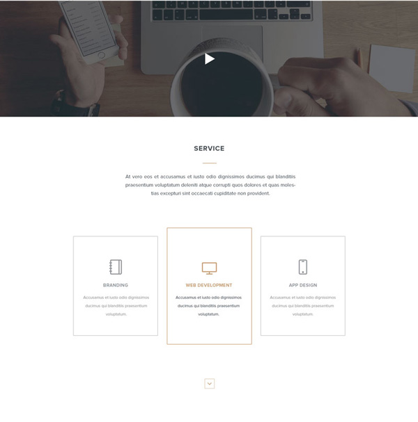 2.HTML PSD Landing Page