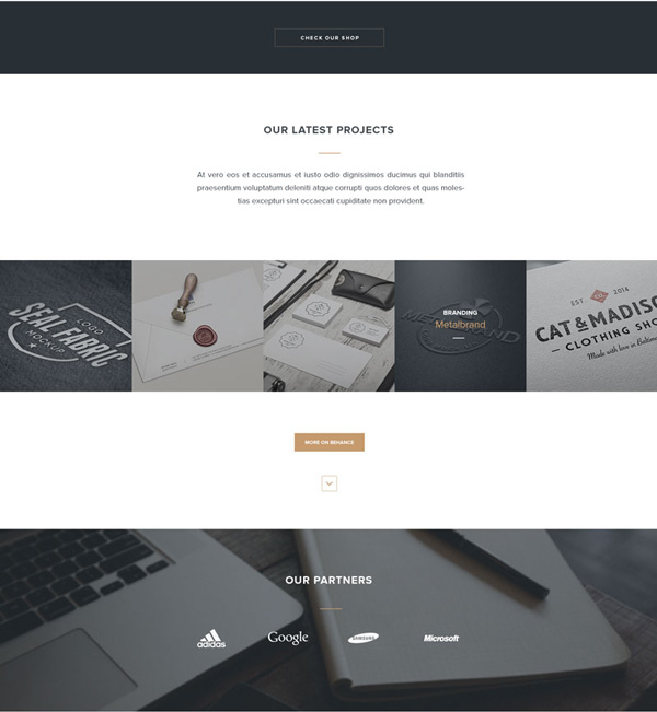 3.HTML PSD Landing Page