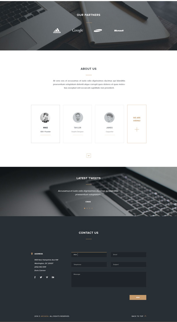 4.HTML PSD Landing Page