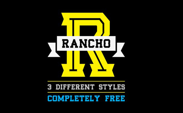 5.Free Font Of The Day  RANCHO