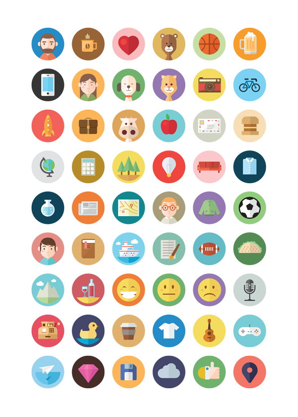 54-Illustrated-Flat-Icons