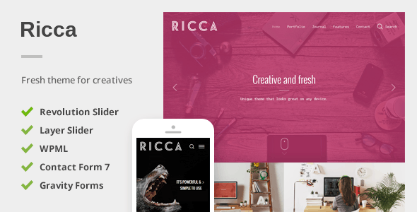 Responsive Theme For Creatives