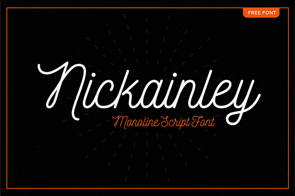 1.Free Font Of The Day  Nickainley