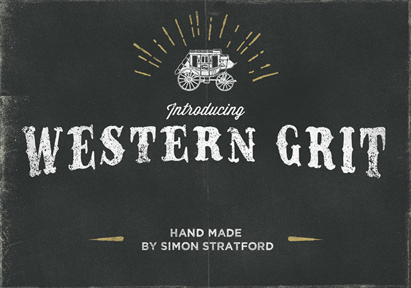 1.Free Font Of The Day  Western Grit