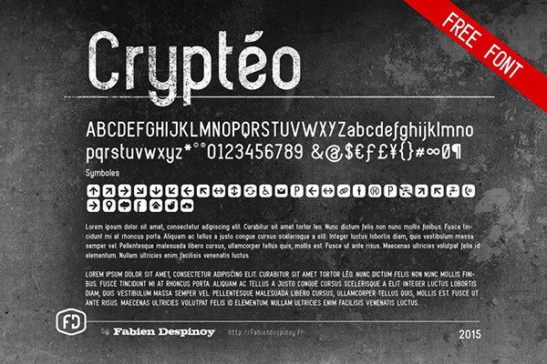 2.Free Font Of The Day  Cryptéo