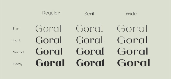 2.Free Font Of The Day  Goral