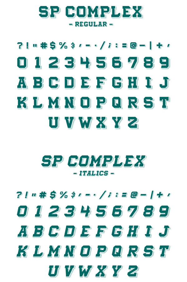 2.Free Font Of The Day  SP Complex