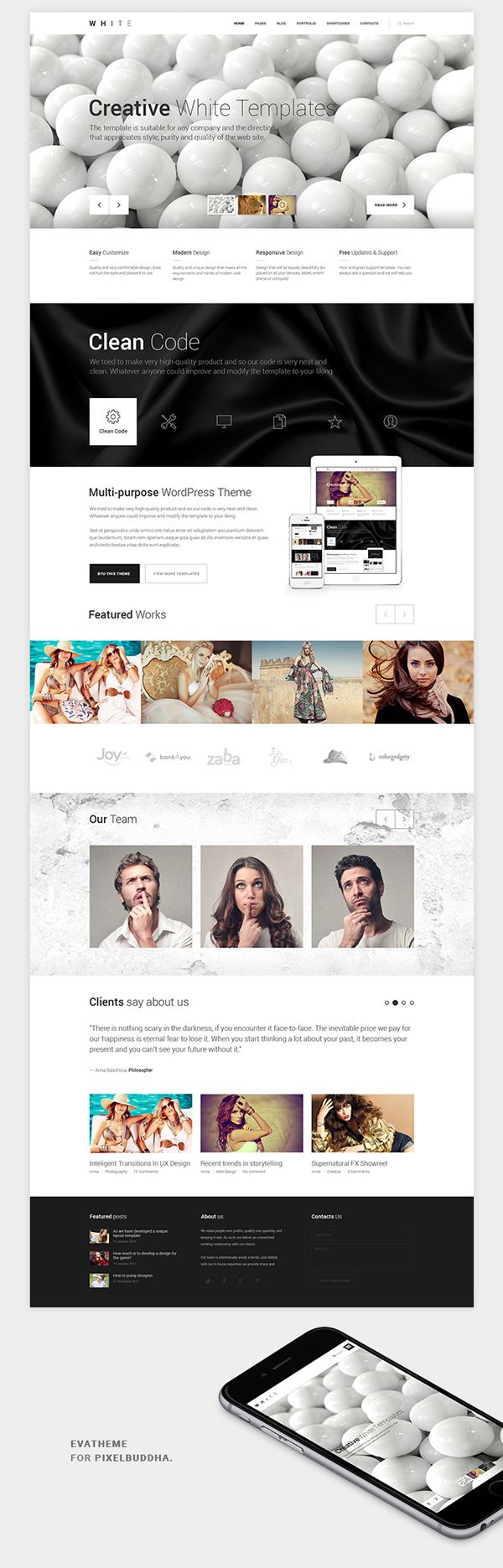 2.Responsive One Page HTML5CSS3  Theme
