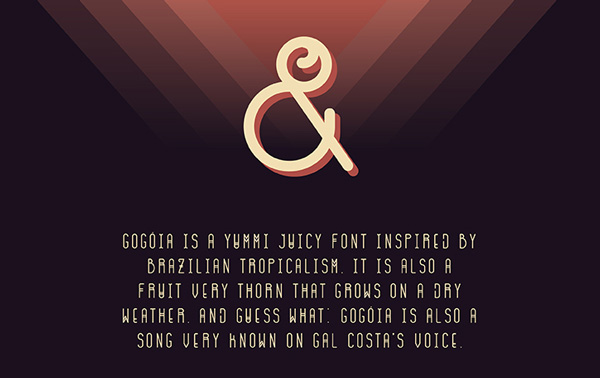 3.Free Font Of The Day  Gogóia