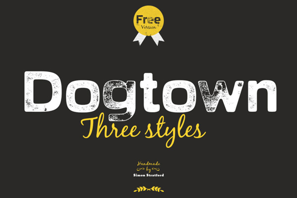 1.Free Font Of The Day  Dogtown