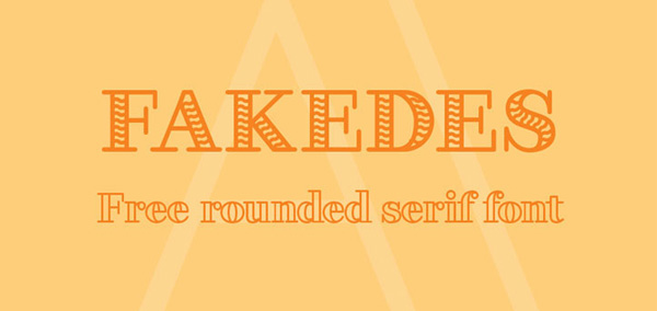 1.Free Font Of The Day  Fakedes