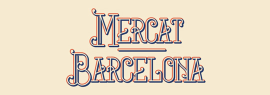 1.Free Font Of The Day  Mercat Barcelona