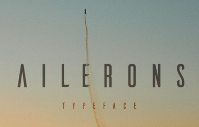 1.Fresh Free Font Of The Day  Ailerons