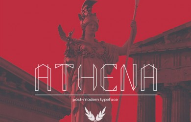 1.Fresh Free Font Of The Day  Athena