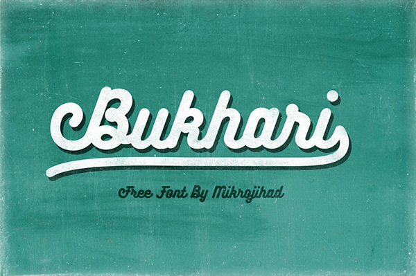 1.Fresh Free Font Of The Day  Bukhari