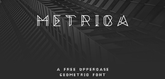 1.Fresh Free Font Of The Day  Metrica