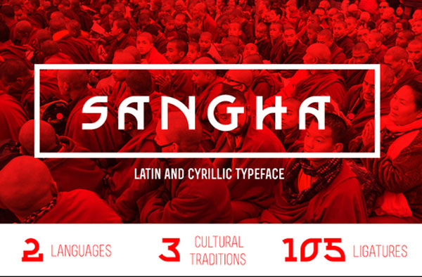 1.Fresh Free Font Of The Day  Sangha
