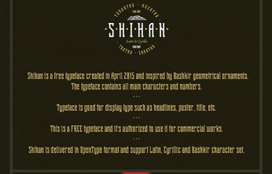 1.Fresh Free Font Of The Day  Shihan