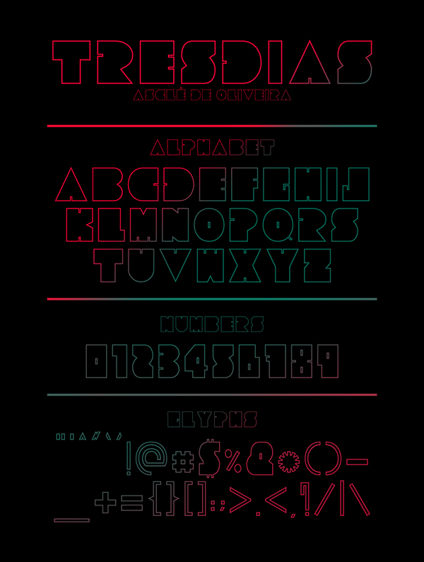 1.Fresh Free Font Of The Day  Tresdias