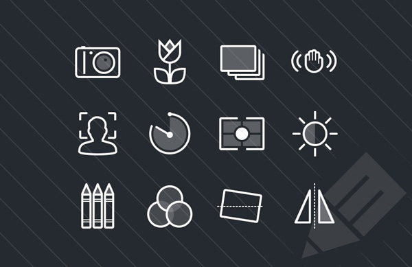 1.Photography & Camera Function Icons (PSD, SVG)