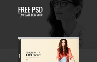 1.free psd template