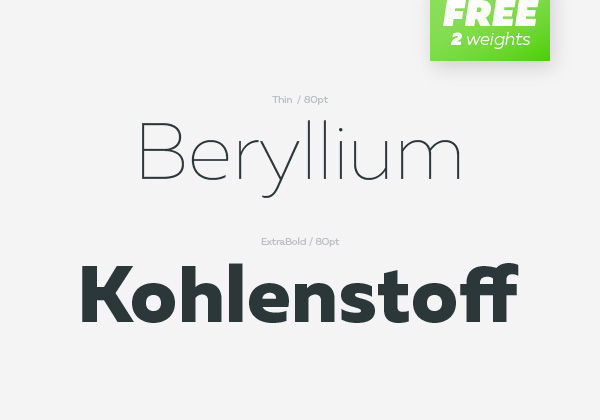 Fresh Free Font Of The Day : Muller ( 2 Weights Free)