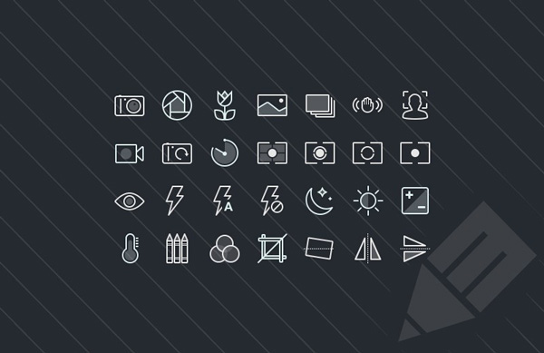 2.Photography & Camera Function Icons (PSD, SVG)