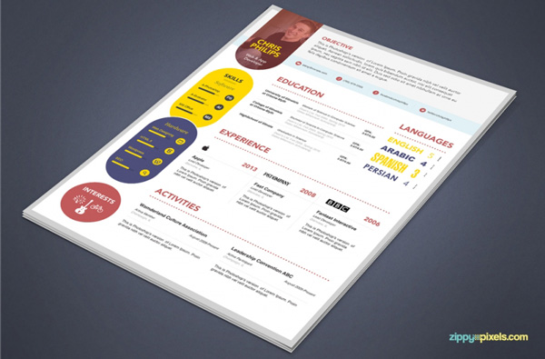 3.Resume and Cover Letter PSD Template