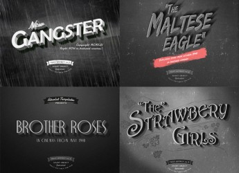 5.Old Movie Titles Layer Styles
