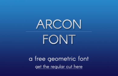 1.Fresh Free Font Of The Day  Arcon
